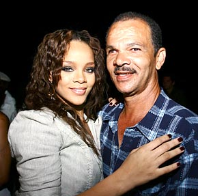 Rihanna relationship with dad
