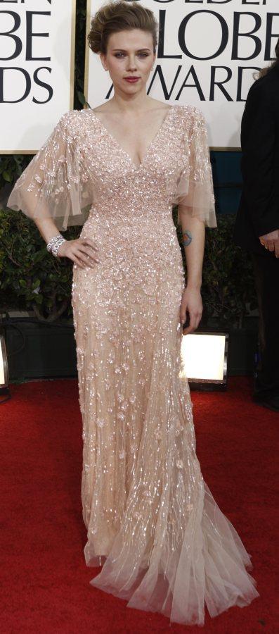 Scarlett Johansson  Elie Saab gown 2011 Golden Globe Awards