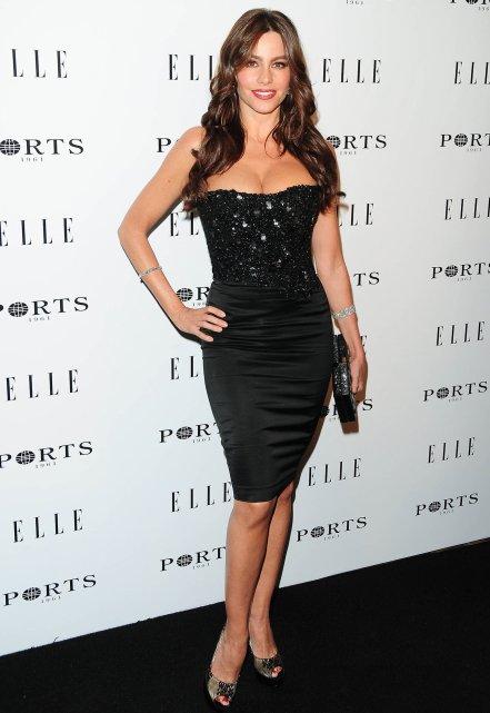 Sofia Vergara black dress Elles Women in Television event