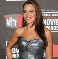 Sofia Vergara hairstyle makeup 2011 Critics Choice Awards