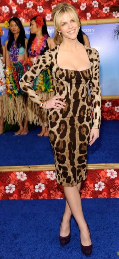 Brooklyn Decker animal print dress Just Go With It premiere