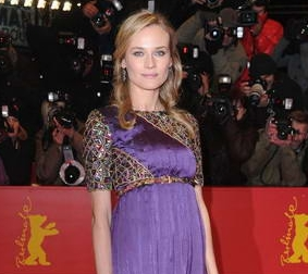 Diane Kruger pretty in purple at Unknown premiere