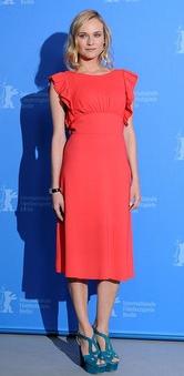Diane Kruger red prada dress Unknown Berlin Film Fest Photo call
