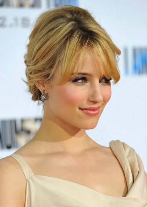 Dianna Agron hairstyle makeup I Am Number Four premiere