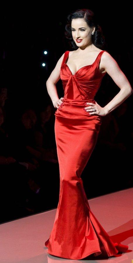 Dita Von Tesse Red Dress Collection Show