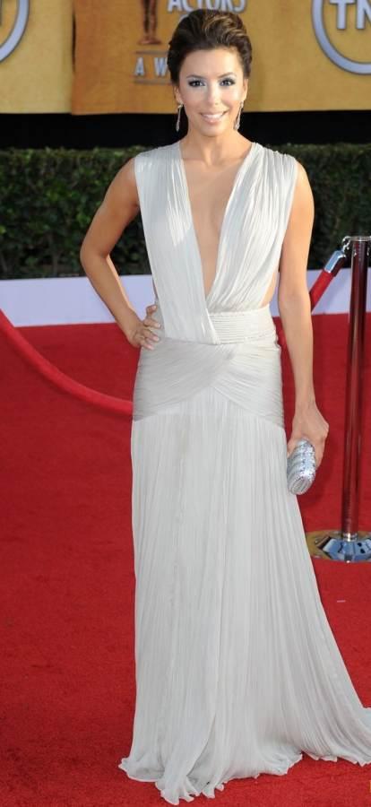 Eva Longoria Georges Hobeika Couture white gown