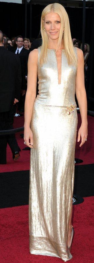 Gwyneth Paltrow silver dress 2011 Oscars