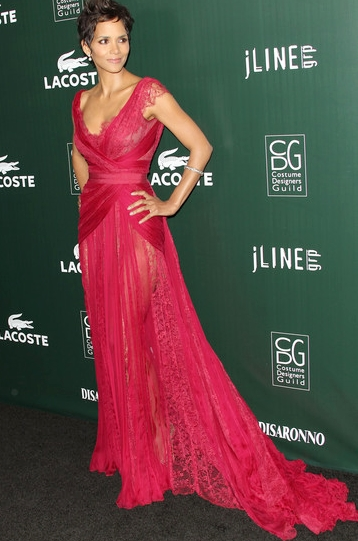 Halle Berry red dress 13th Annual Costumer Designers Guild Awards