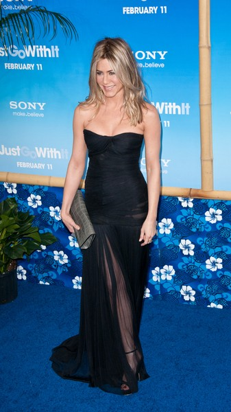 Jennifer Aniston in black at Just Go with It NY Premiere