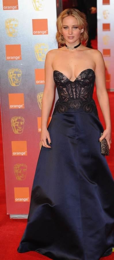 Jennifer Lawrence in Stella McCartney at BAFTA Awards night
