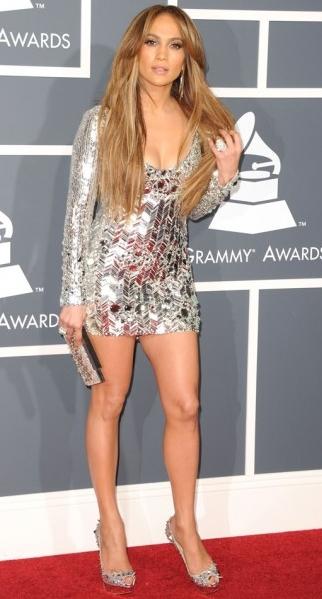 Jennifer Lopez emilo pucci dress 2011 Grammy Awards