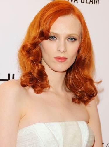 Karen Elson'hairstyle makeup amfAR Gala