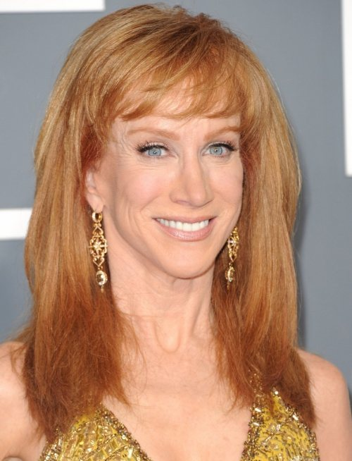 Kathy Griffins hairstyle makeup 2011 Grammys