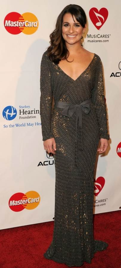 Lea Michele performs at MusiCares gala