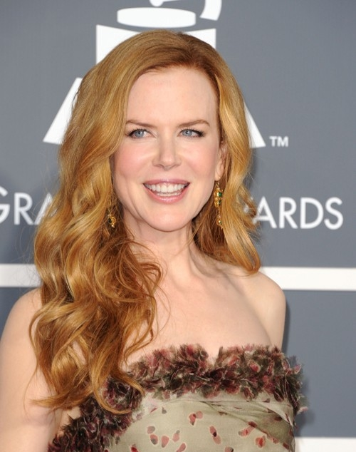 Nicole Kidman hairstyle makeup 2011 Grammy Awards