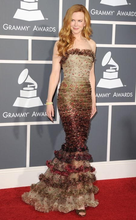 Nicole Kidman in Jean Paul Gaultier at 2011 Grammy Awards