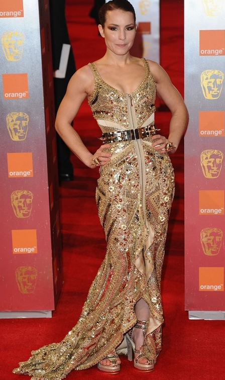 Noomi Rapace metallic look at BAFTA Awards night