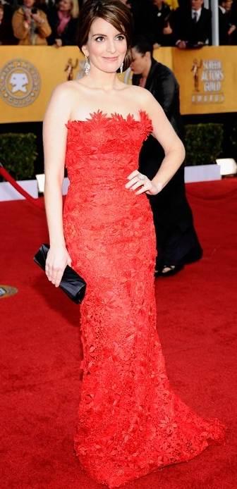 Tina Fey in Oscar de la Renta at 2011 SAG Awards