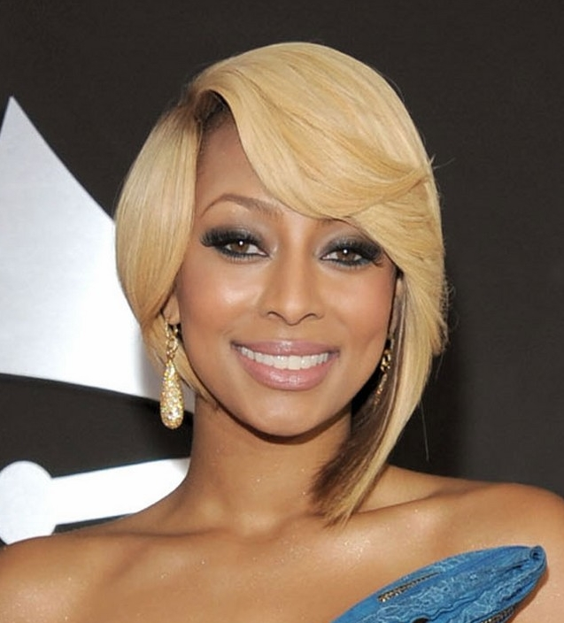 Stupendous Keri Hilson 2011 Blonde Hair Short Hairstyles For Black Women Fulllsitofus