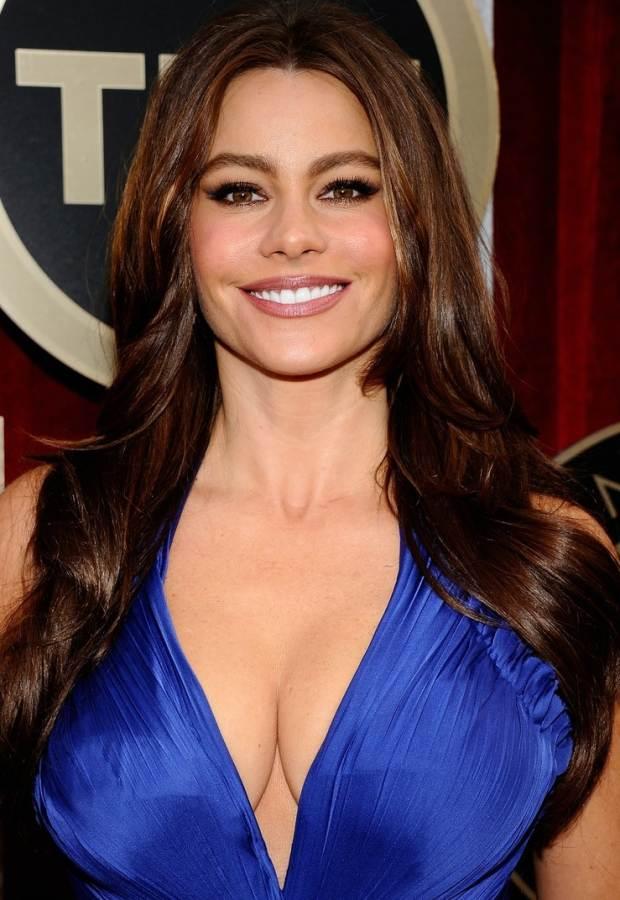 sofia-vergara-plunginf neckline gown SAG 2011