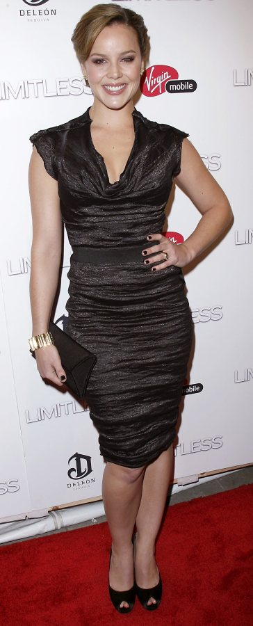 Abbie Cornish in black at Limitless New York premiere