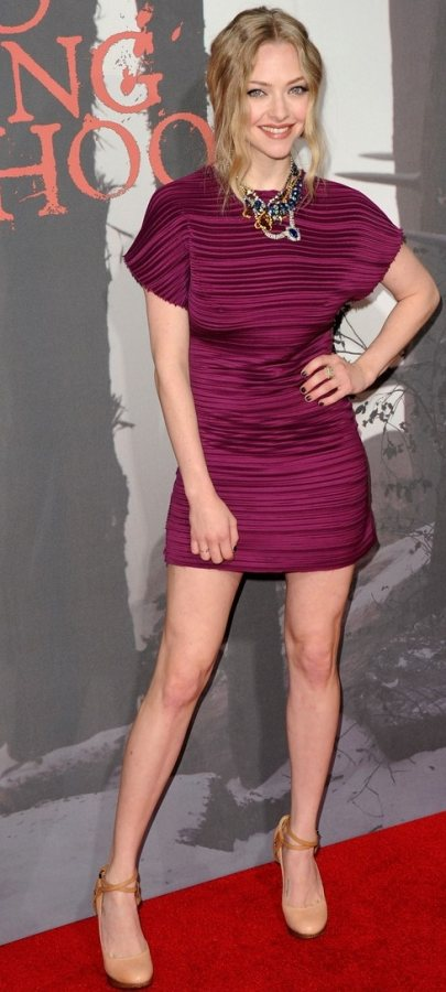 Amanda Seyfried at the premier of Red Riding Hood
