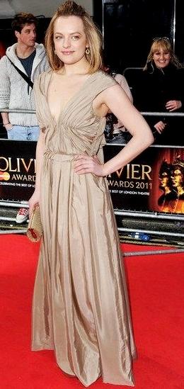 Elisabeth Moss attends 2011 Oliver Awards-2