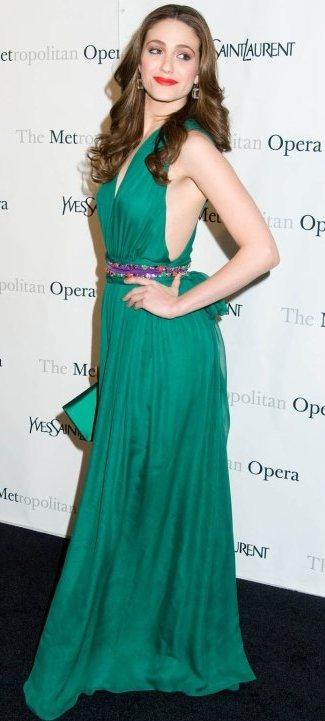 Emmy Rossum YSL Metropolitan Opera Premiere