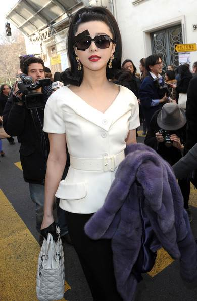 Fan Bing Bing in Christian Dior at Paris Fashion Week