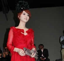 Fan Bing Bing in red Valentino Fall 2011 presentation