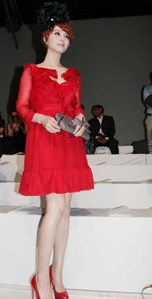Fan Bing Bing red  Valentino Fall 2011 presentation