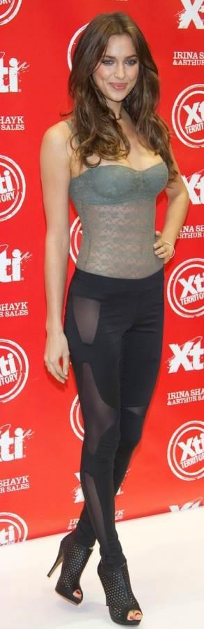 Irina Shayk sheer outfit Xti Launch