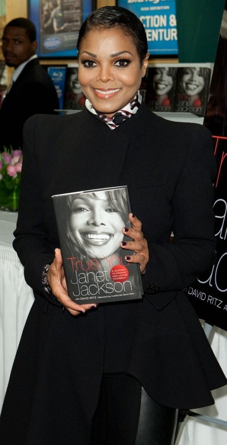 Janet Jackson attends her book signing event
