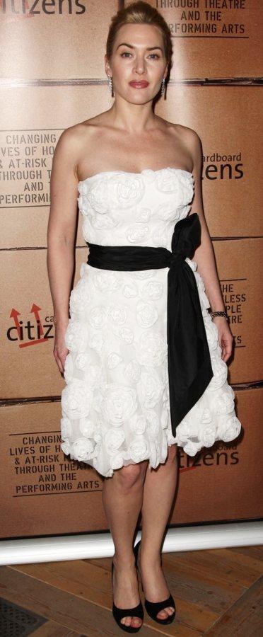 Kate Winslet white dress Cardboard Citizens Fundraising Dinner