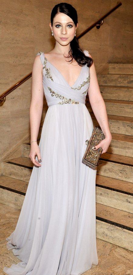 Michelle-Trachtenberg gray marchesa gown