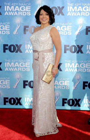 Sarah Ramirez at the NAACP Image Awards red carpet