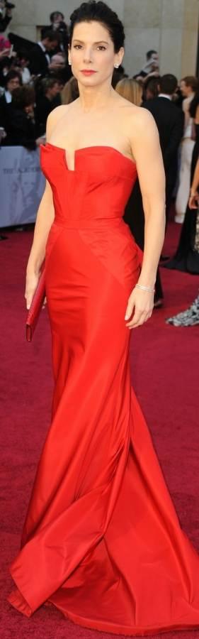 sandra-bullock-2011 oscar gown