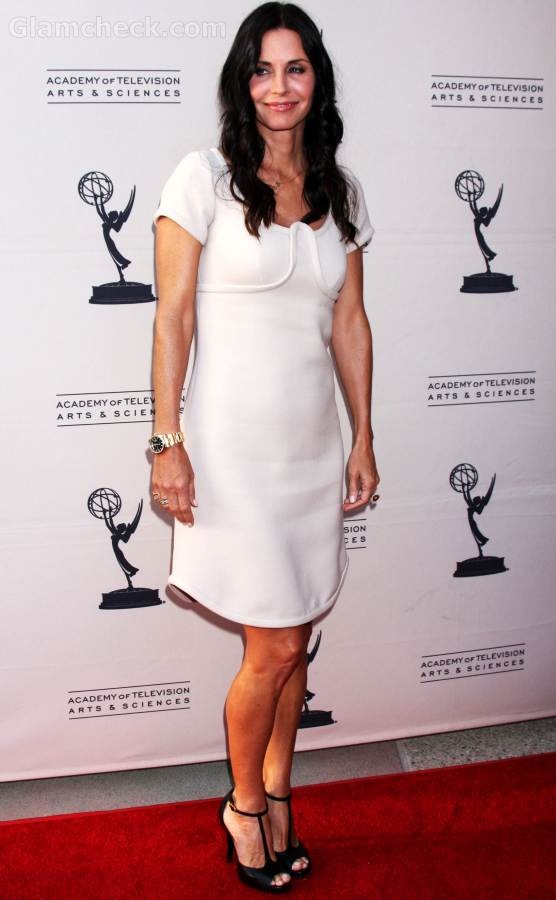 Courtney Cox white dress