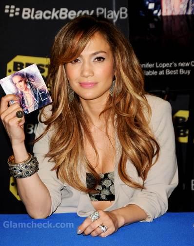 Jennifer Lopez launched Blackberry Playbook Best Buy LA