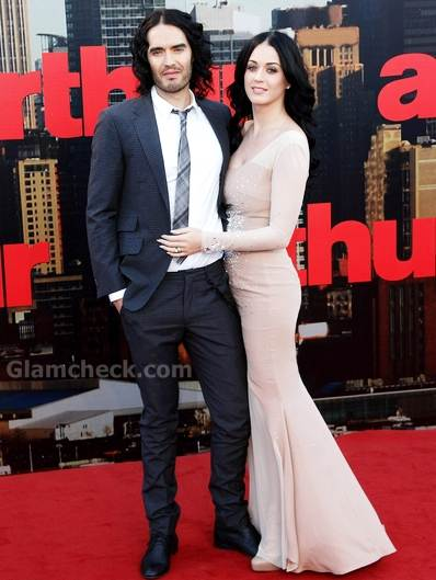 Katy Perry Russell Brand at Arthur London Premiere