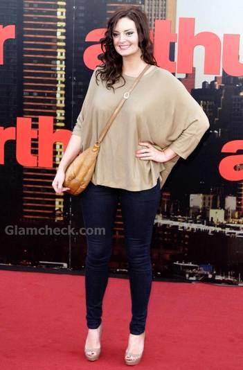 Morgana Robinson chic casual look arthur premiere
