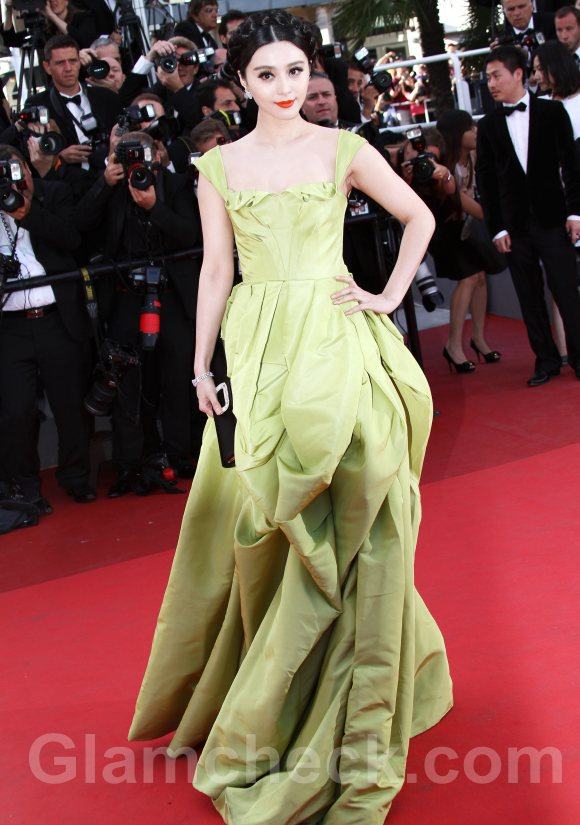 2011 Cannes film festival Fan Bingbing oscar de la renta gown