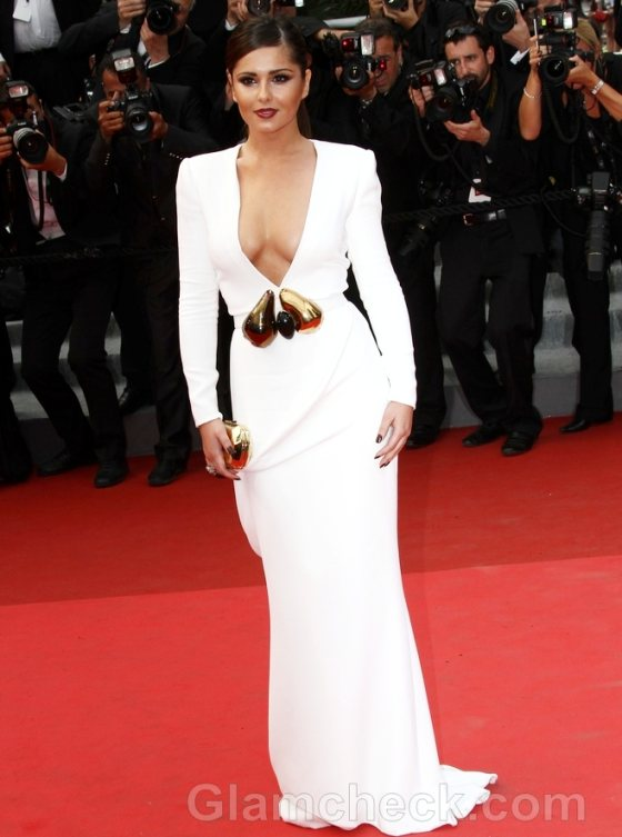 2011 cannes film festival cheryl cole white gown