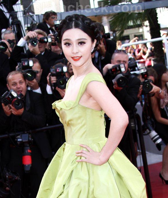 Fan Bingbing hairstyle makeup 2011 Cannes film festival