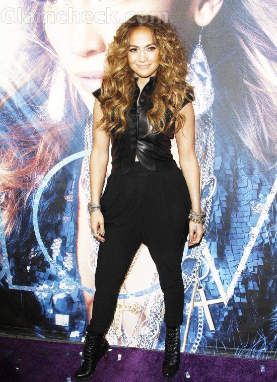 Jennifer Lopez black carrot pants LOVE CD Signing