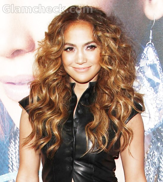 Jennifer Lopez curly hairstyle LOVE CD Signing