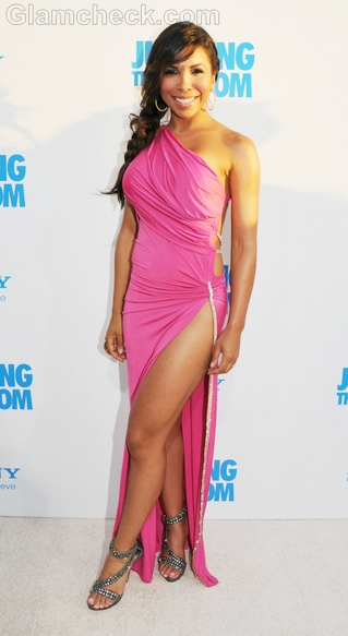 Maya-Gilbert-pink-thigh-high-slit-gown