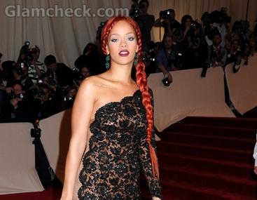 Rihanna-hairstyle-red-hair-French-braid-met-gala