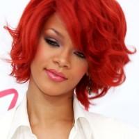 Rihanna short hair red 2011 Billboard Music Awards