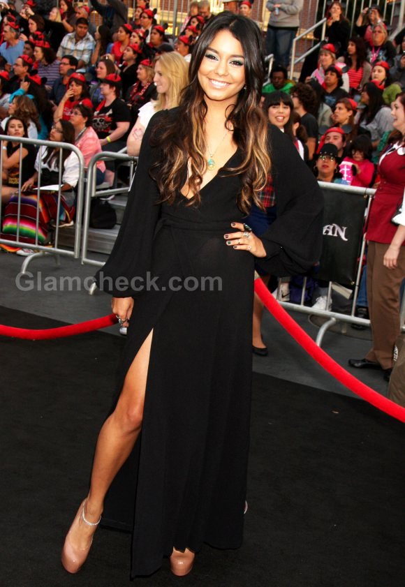 Vanessa Hudgens black gown Pirates of the Carribbean Premiere